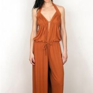 NWT torn by ronny kobo Brown Jessie Jumpsuit